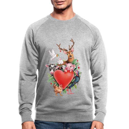 Christmas heart by Maria Tiqwah - Men's Organic Sweatshirt