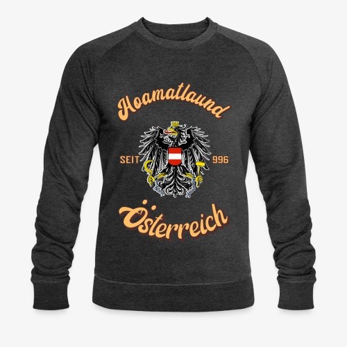 Österreich hoamatlaund retro desígn - Männer Bio-Sweatshirt von Stanley & Stella