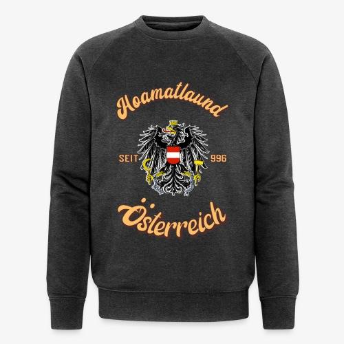 Österreich hoamatlaund retro desígn - Männer Bio-Sweatshirt