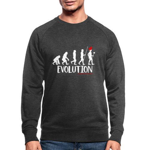 Die Evolution - Männer Bio-Sweatshirt