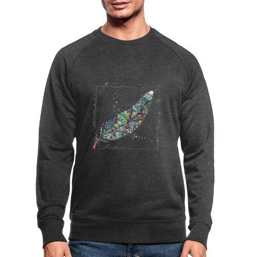 Feder bunt - Männer Bio-Sweatshirt von Stanley & Stella