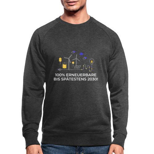 100% Erneuerbare bis spätestens 2030 weiß - Männer Bio-Sweatshirt