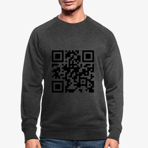 QR Code - Men's Organic Sweatshirt