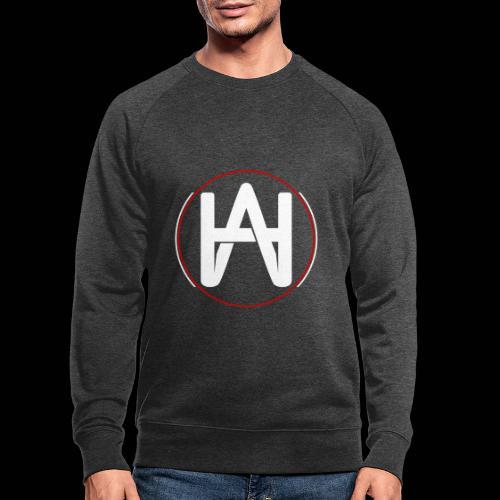 Hombre Alpha Logo en Blanco sobre Negro - Sudadera ecológica hombre