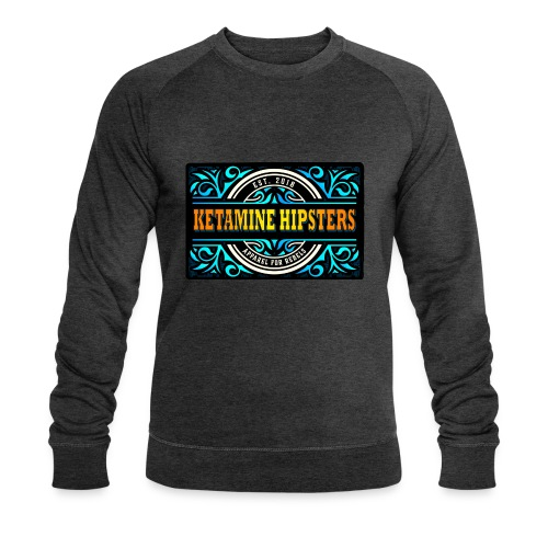 Black Vintage - KETAMINE HIPSTERS Apparel - Men's Organic Sweatshirt by Stanley & Stella