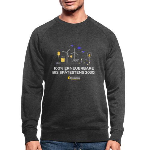 100% Erneuerbare 2030 w - Männer Bio-Sweatshirt