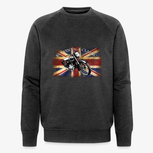 Vintage famous Brittish BSA motorcycle icon - Men's Organic Sweatshirt by Stanley & Stella