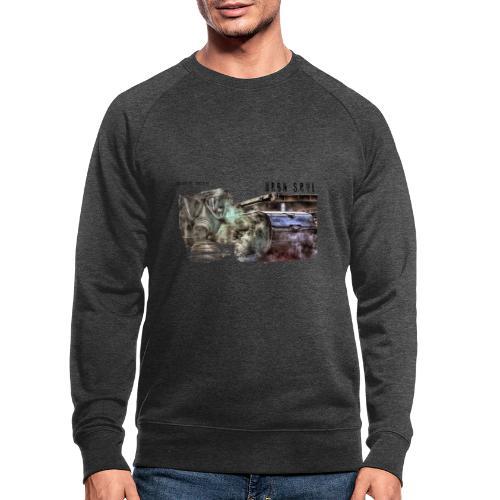 gas mask 2 black - Männer Bio-Sweatshirt