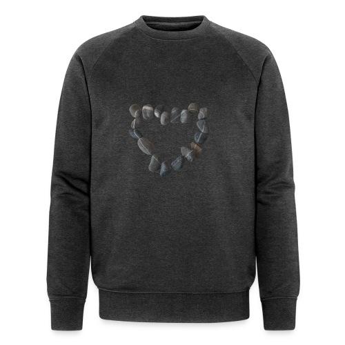 Steinherz - Männer Bio-Sweatshirt
