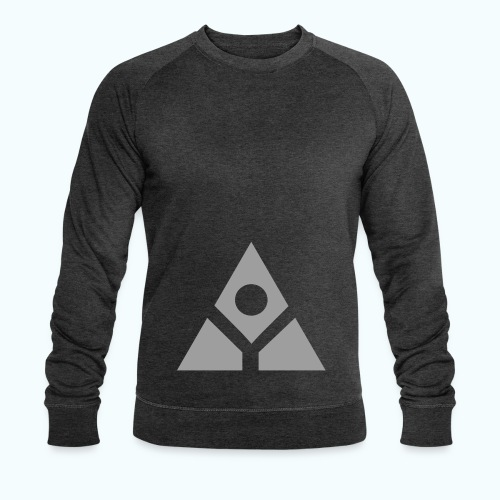 Sacred geometry gray pyramid circle in balance - Men's Organic Sweatshirt by Stanley & Stella