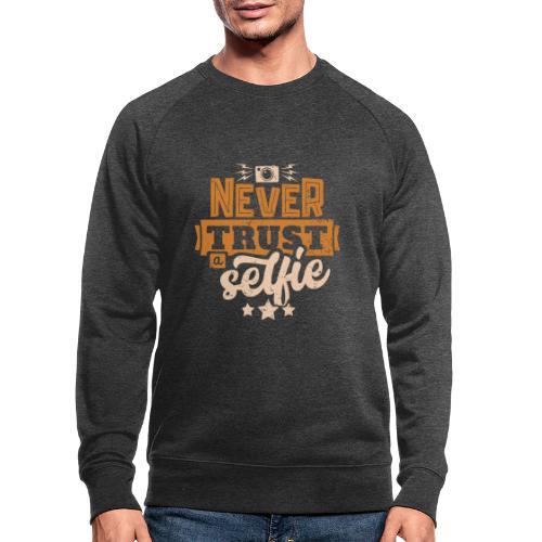 Never trust - Ekologisk sweatshirt herr