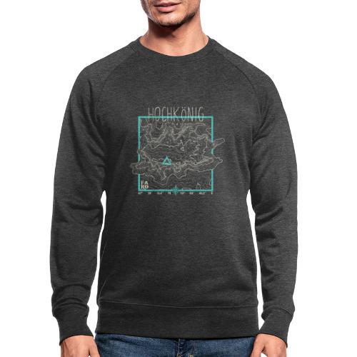 Hochkoenig Contour Lines - Square - Men's Organic Sweatshirt