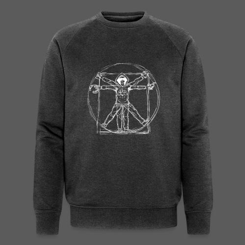 Vitruvian Gamer White Print - Männer Bio-Sweatshirt von Stanley & Stella