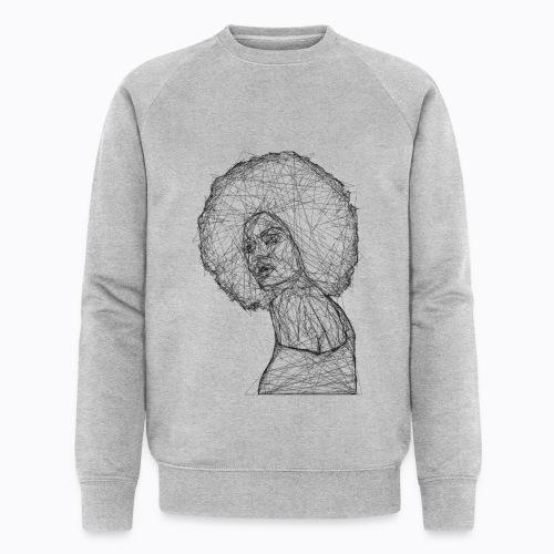 african afro - Men's Organic Sweatshirt by Stanley & Stella