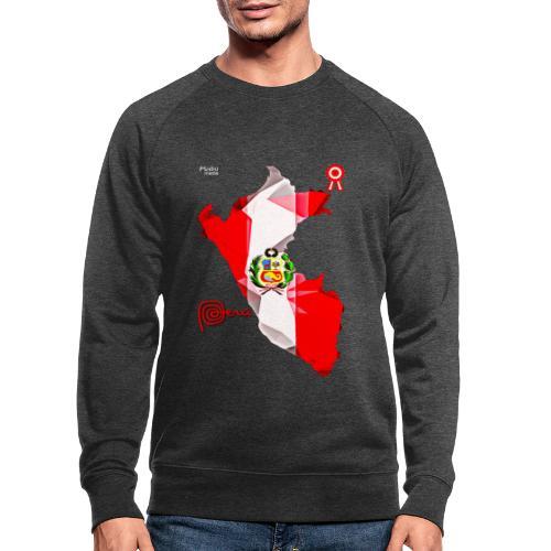 Mapa del Peru, Bandera und Escarapela - Männer Bio-Sweatshirt