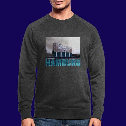 Elbphilharmonie   HAMBURG-Typo  Künstlermotiv - Männer Bio-Sweatshirt