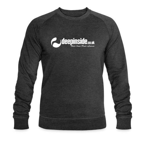DEEPINSIDE World Reference logo white - Men's Organic Sweatshirt by Stanley & Stella