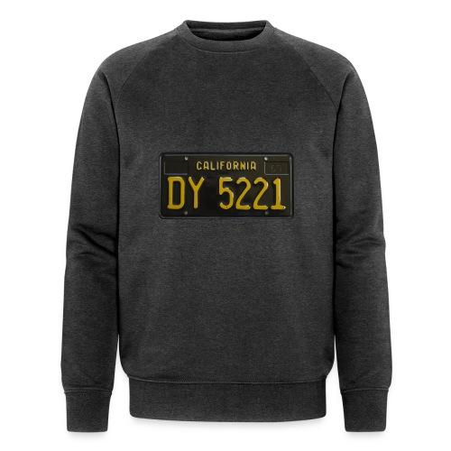 CALIFORNIA BLACK LICENCE PLATE - Men's Organic Sweatshirt