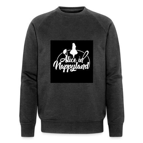 Alice in Nappyland TypographyWhite 1080 - Men's Organic Sweatshirt
