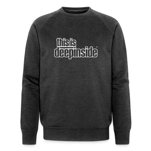 This is DEEPINSIDE logo white - Men's Organic Sweatshirt by Stanley & Stella