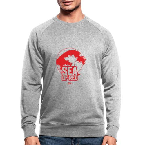 Sea of red logo - red - Men's Organic Sweatshirt