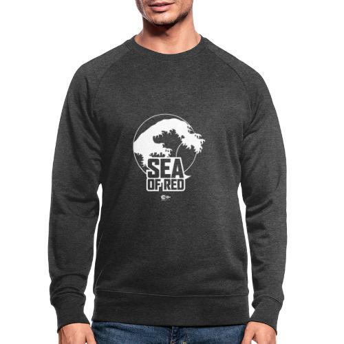 Sea of red logo - white - Men's Organic Sweatshirt