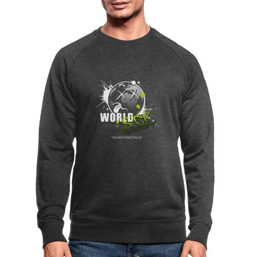 world sick - Männer Bio-Sweatshirt
