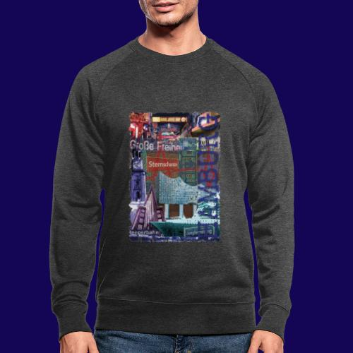 Hamburg: Die Highlights als Designer-Edition - Männer Bio-Sweatshirt