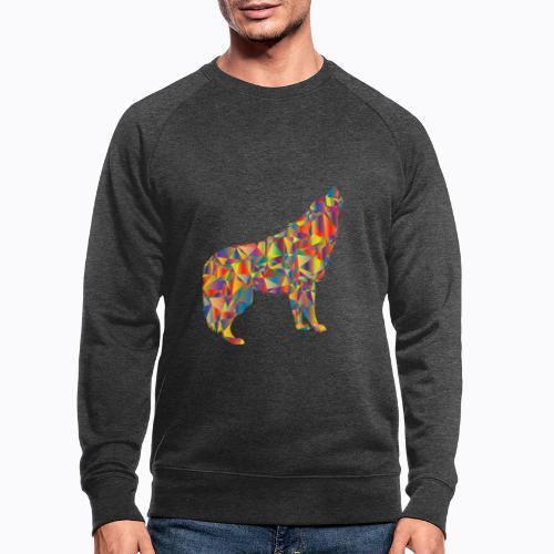 howling colorful - Men's Organic Sweatshirt