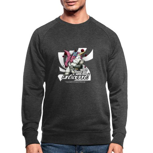 Don't mess up with the unicorn - Männer Bio-Sweatshirt