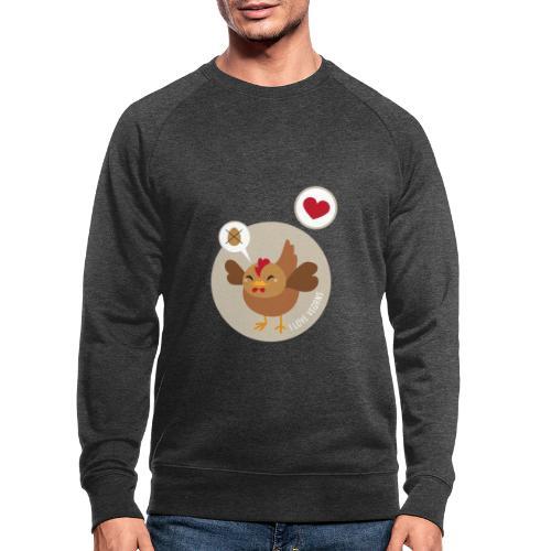 I love Vegans - Mannen bio sweatshirt