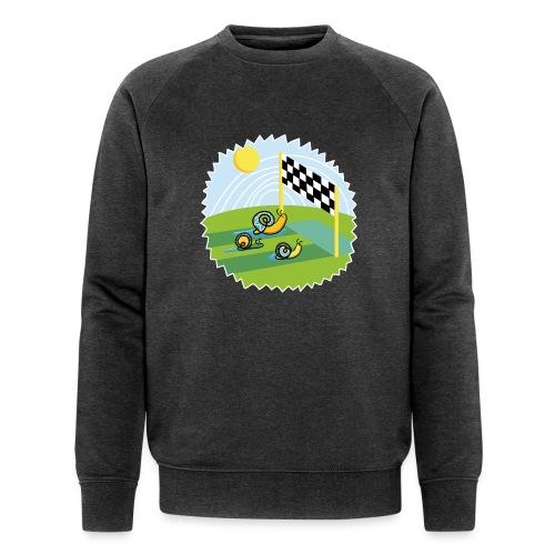 Zen Schnecken im Wettrennen auf sonniger Wiese - Männer Bio-Sweatshirt von Stanley & Stella