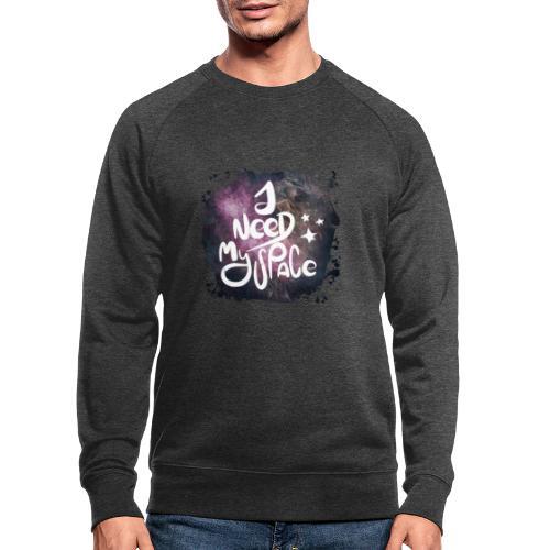 Introvert 1 i need my space - Männer Bio-Sweatshirt