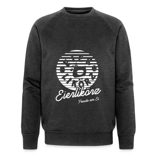 Herz Ei_final_back_x11_ne - Männer Bio-Sweatshirt