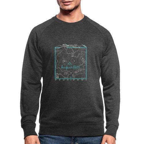 Laufener Hütte im Tennengebirge - Smalt Blue - Men's Organic Sweatshirt