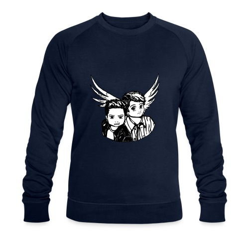 Destiel i sort/hvid - Økologisk Stanley & Stella sweatshirt til herrer