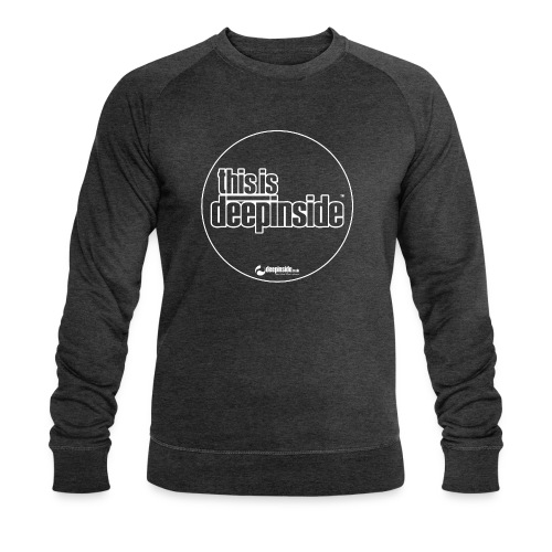 This is DEEPINSIDE Circle logo white - Men's Organic Sweatshirt by Stanley & Stella