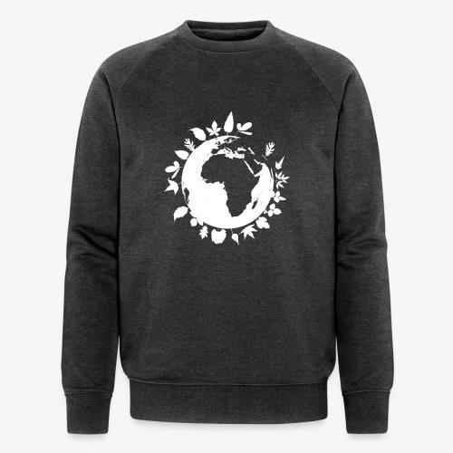 leaf globe white - Ekologisk sweatshirt herr