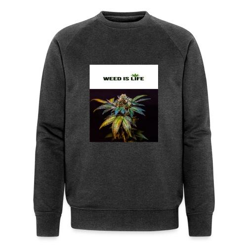 WEED IS LIFE - Männer Bio-Sweatshirt von Stanley & Stella