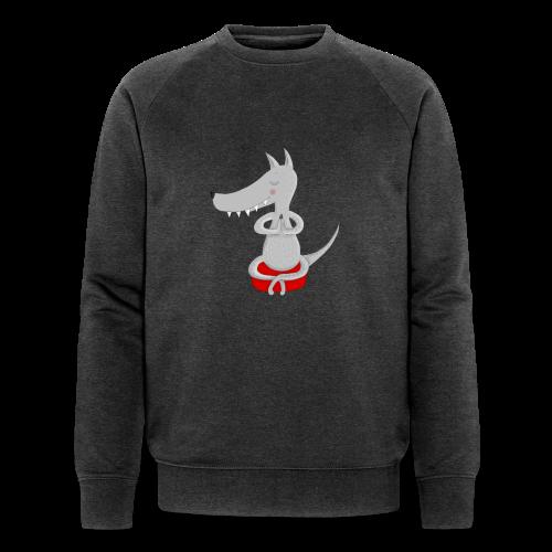 Wolf in tiefer Meditation - Männer Bio-Sweatshirt von Stanley & Stella