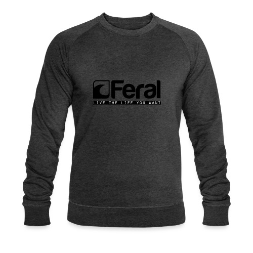 Feral Surf - Live the Life - Black - Men's Organic Sweatshirt by Stanley & Stella