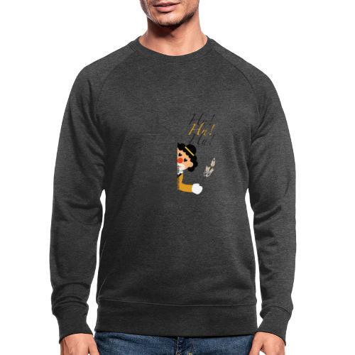 Hu! Hu! Hu! Schwarzgelber Clown am Schwarzen Tor - Männer Bio-Sweatshirt