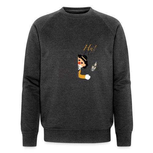 Hu! Hu! Hu! Schwarzgelber Clown am Schwarzen Tor - Männer Bio-Sweatshirt von Stanley & Stella