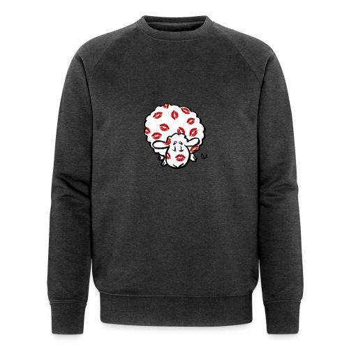 Kuss Mutterschaf - Männer Bio-Sweatshirt