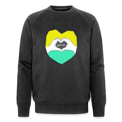 hearthands you & me Poly Herz illustration - Männer Bio-Sweatshirt von Stanley & Stella