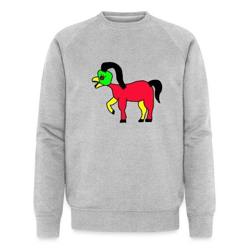 Vogel Pferd Verrückt - Männer Bio-Sweatshirt