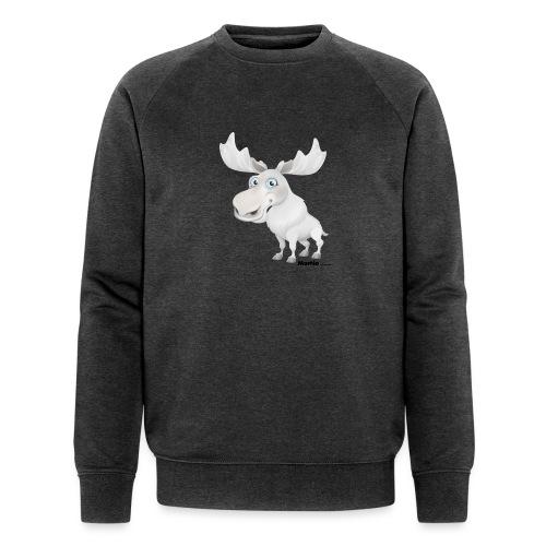 Albino elg - Økologisk sweatshirt for menn