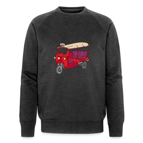 Rote Autorikscha, Tuk-tuk - Männer Bio-Sweatshirt von Stanley & Stella