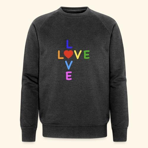 Rainbow Love. Regenbogen Liebe - Männer Bio-Sweatshirt von Stanley & Stella