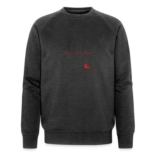 Love Rappelling ECG - Men's Organic Sweatshirt by Stanley & Stella